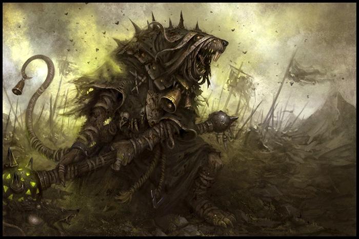Skaven Plaguemonk Artwork