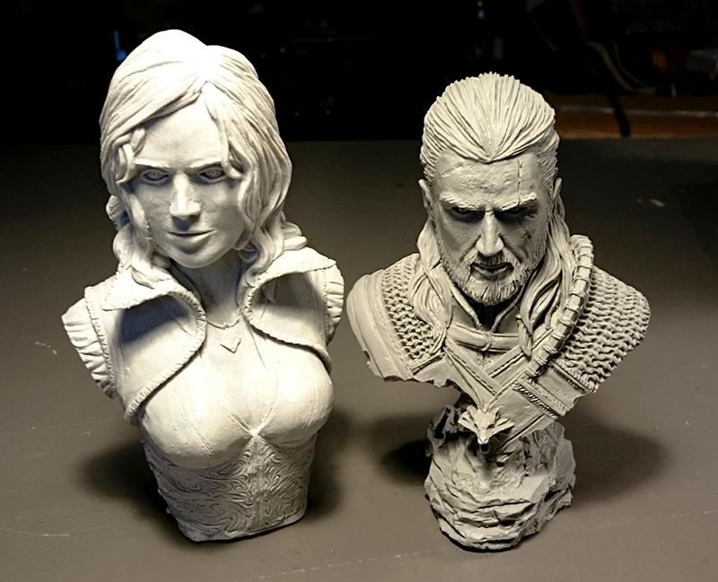 Triss & Geralt Busts - Unpainted