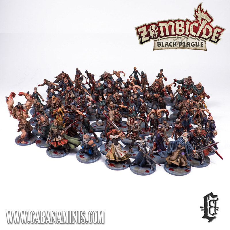 Zombicide: Black Plague Miniatures Painted #2