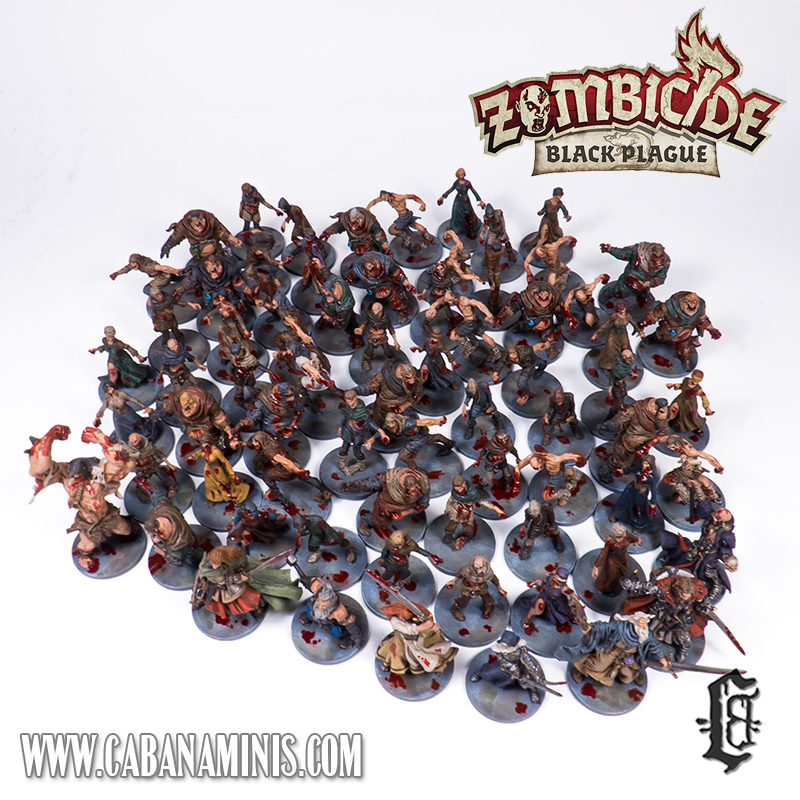 Zombicide: Black Plague Miniatures Painted #1