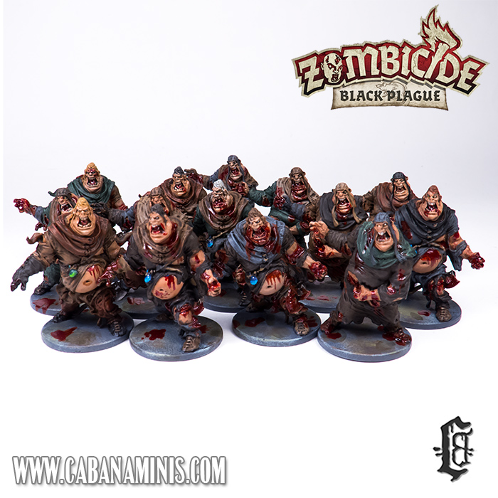 Zombicide: Black Plague - Painted Fatties