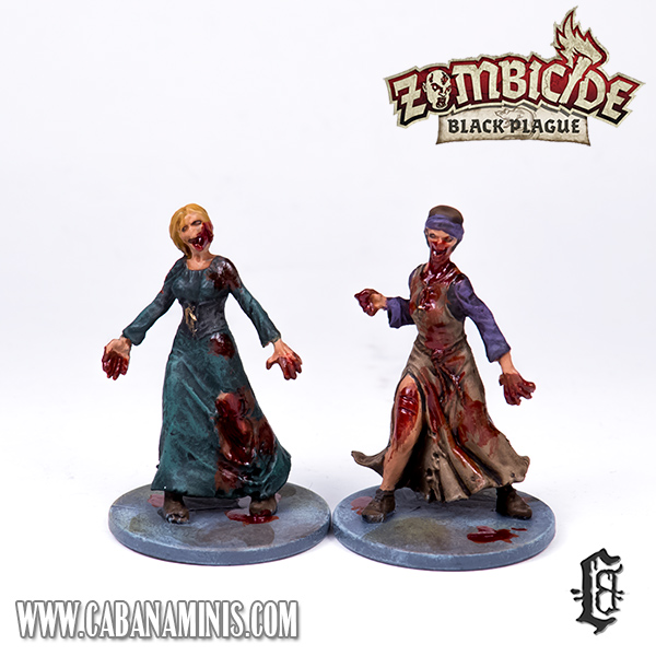 Zombicide: Black Plague - Painted Female Zombies