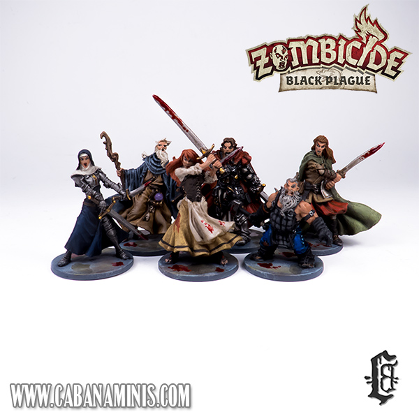 Zombicide: Black Plague - Painted Heroes