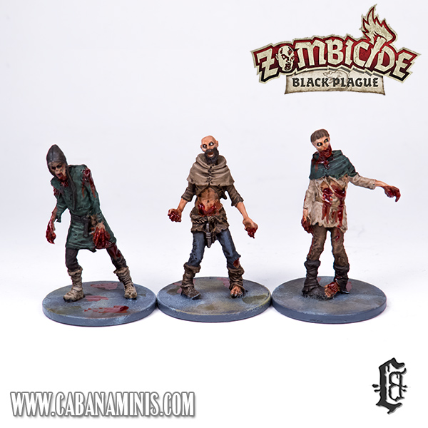 Zombicide: Black Plague - Painted Male Zombies