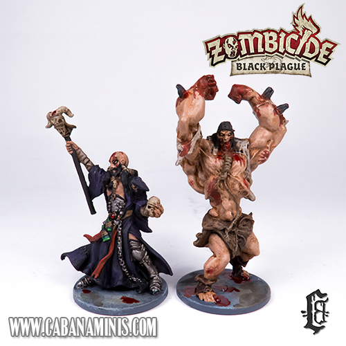 Zombicide: Black Plague - Painted Necromancer & Abomination