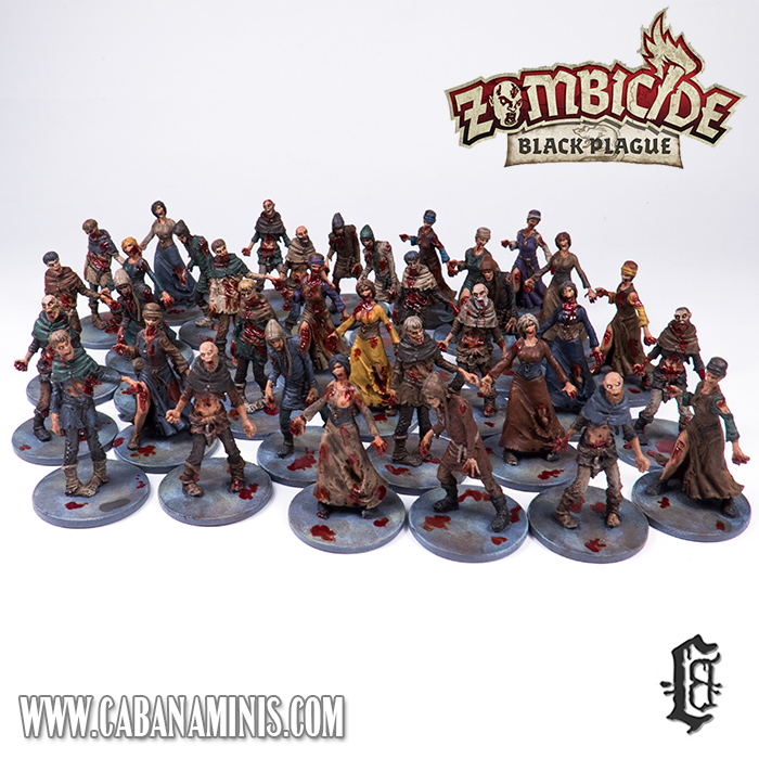 Zombicide: Black Plague - Painted Zombies