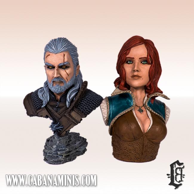 Geralt & Triss Busts