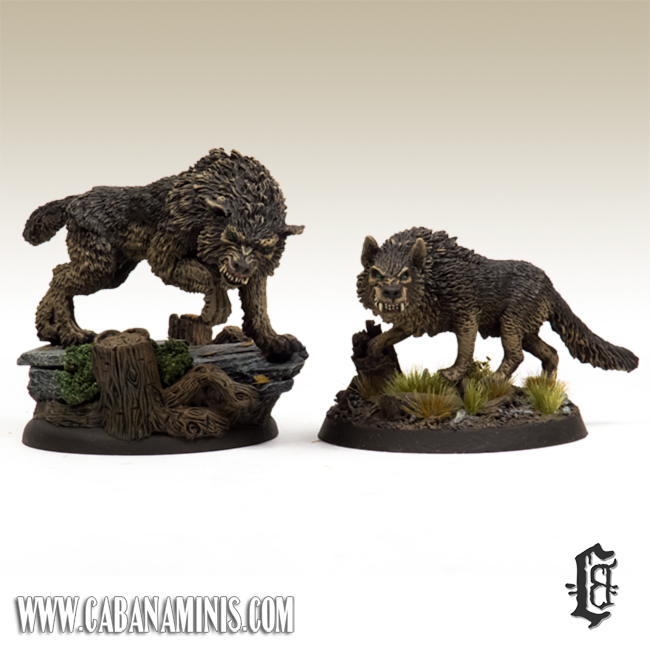 Monstrous Direwolf and Dire Wolf