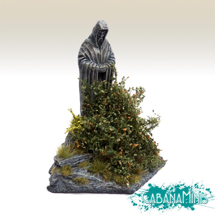 Overgrown Statue