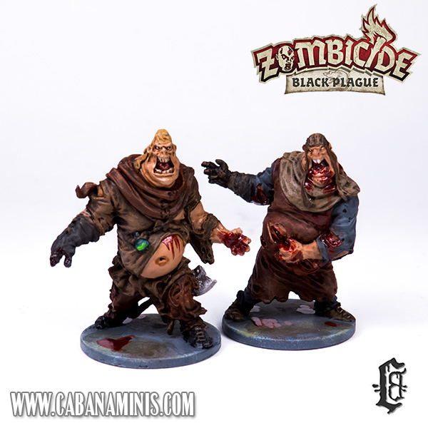 Zombicide: Black Plague - Two Fatties Painted