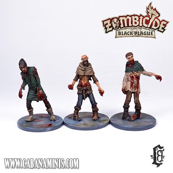 Zombicide: Black Plague - Painted Male Zombies