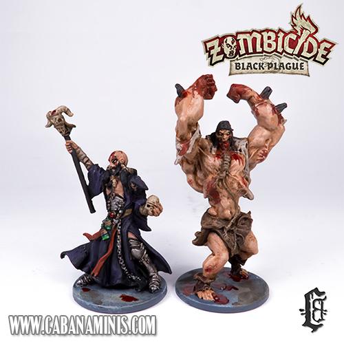 Zombicide: Black Plague - Painted Necromancer & Abomination